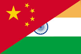 China - India - flags