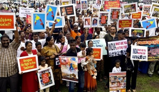 Malaysian Tamils protest