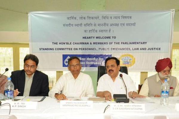 அகதிகளிடம் கருத்து அறியும் கூட்டம் நடத்திய இந்திய நாடாளுமன்ற நிலையியல் குழு உறுப்பினர்கள்