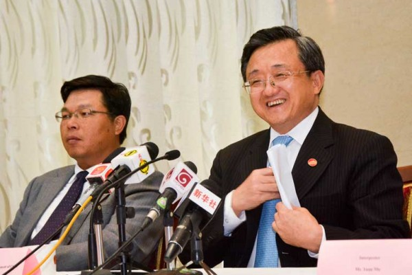 Liu Zhenmin press