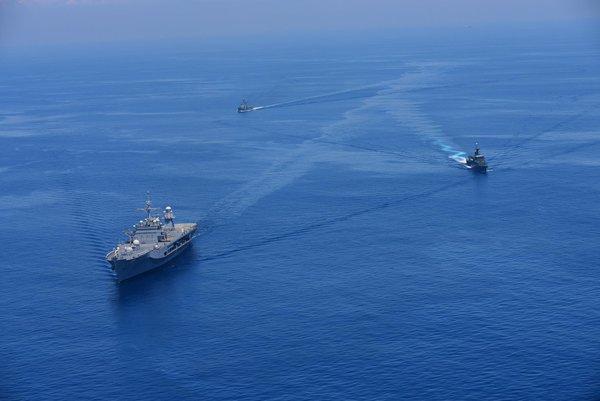 USS Blue Ridge -depature