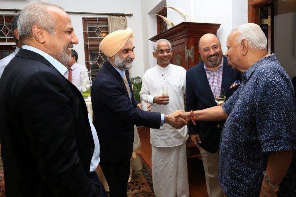 Atul Keshap hosted dinner for Taranjit Singh Sandhu (1)