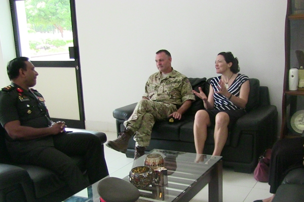 British Deputy High Commissioner Meets Mullaittivu Commander