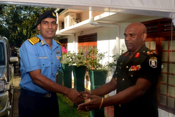Major General Mahesh Senanayake and Captain Ashok Rao