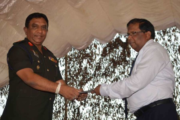 Army hands over land