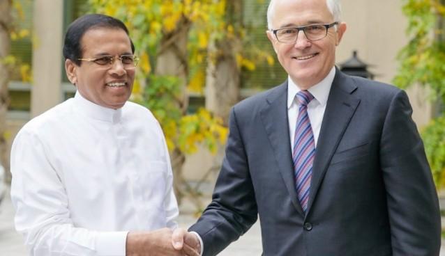 maithripala- Malcolm Turnbull (1)
