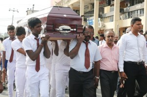 vinayagamoorthy funeral