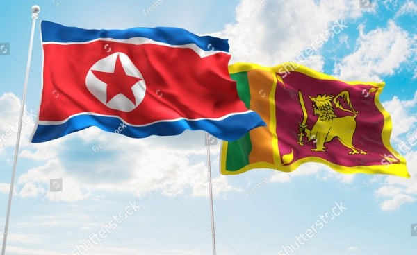 north-korea-sri-lanka-flags