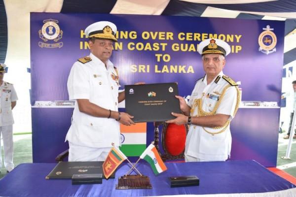 India hands over OPV to Sri Lanka