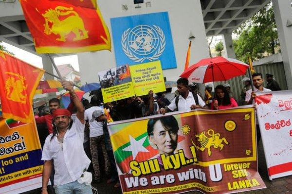 anti-Rohingya-demo