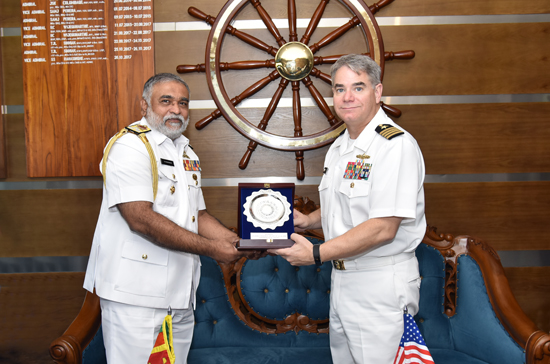 Captain Frank S Linkous Vice Admiral Sirimevan Ranasinghe