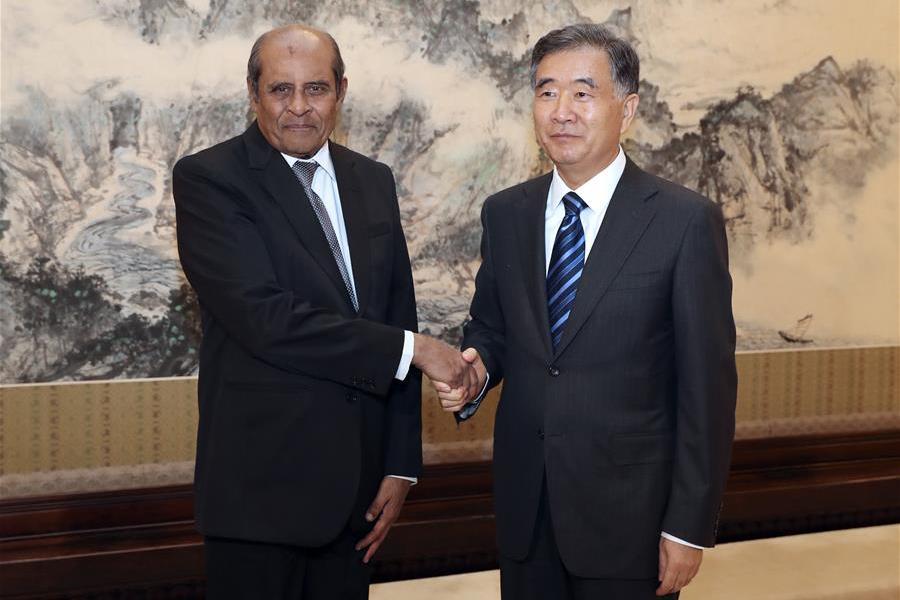 Chinese Vice Premier Wang Yang met Tilak Marapana