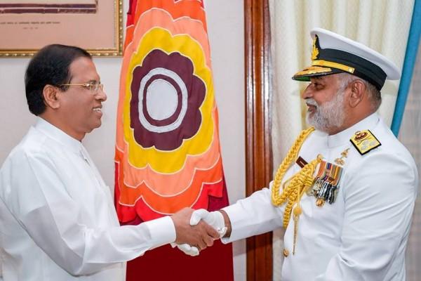 Vice Admiral Sirimevan Ranasinghe- Maithripala Sirisena