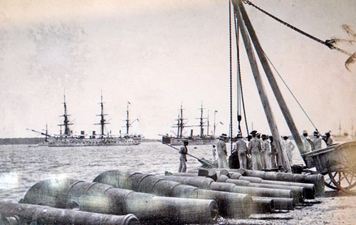 Cannon-Unloaded-in-trincomalee-Harbour