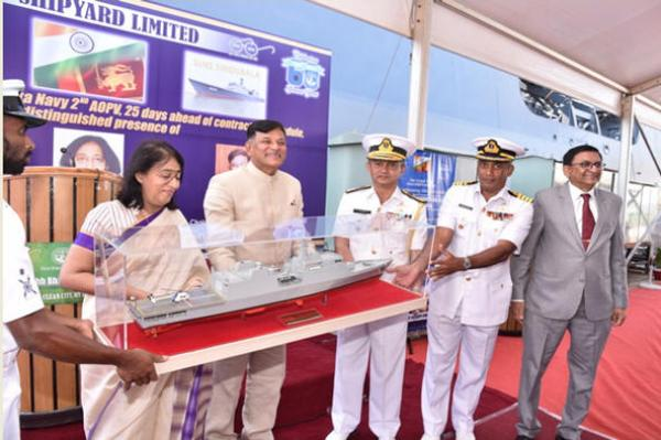 GSL delivers 2nd AOPV to SL Navy