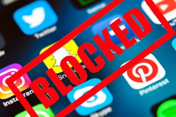 social media block